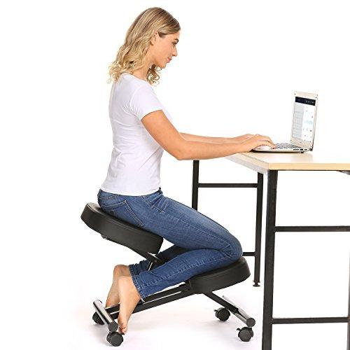 Kniestuhl, Verstellbarer Kniestuhl, ergonomischer Hocker, geeignet für Zuhause und Büro, verbessert die Haltung, um Nacken- und Rückenschmerzen zu lindern (klassischer Stil)
