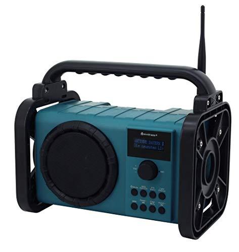 Soundmaster DAB80 Baustellenradio mit DAB+/UKW Bluetooth und Li-Ion Akku