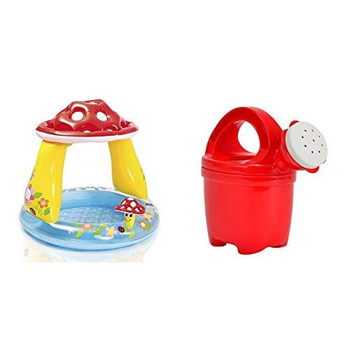 VEDES Großhandel GmbH - Ware Intex 57114NP Baby Pool Pilz, Durchmesser 102 x 89 cm, bunt & Simba 107109651 - Baby-Gießkanne, Sortiert