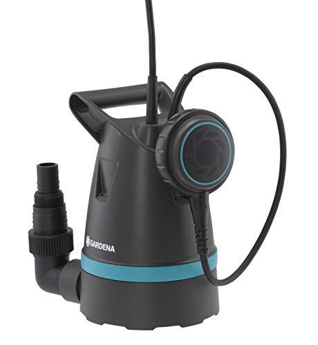GARDENA Klarwasser-Tauchpumpe 8600 Basic: Entwässerungspumpe mit flexiblem Schlauchanschluss, Fördermenge bis zu 8.600 l/h, Flachabsaugung bis 4 mm, Schwimmerschalter mit Dauerlauffunktion (9001-47)