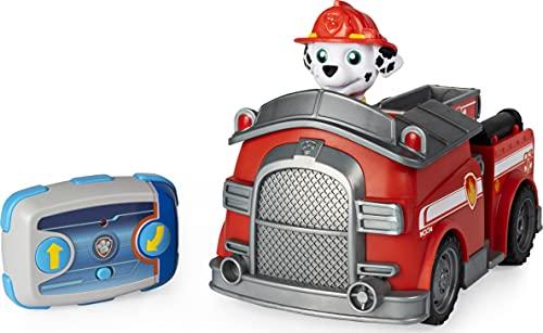PAW Patrol Ferngesteuertes Feuerwehrauto mit Marshall - Figur, RC Fahrzeug in rot