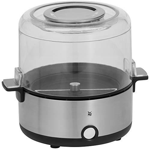 WMF KÜCHENminis Popcornmaschine für zuhause, Popcorn Maker, beschichtete Heizplatte, Deckel als Servierschale, Butterschmelzöffung, Popkorn mit Zucker und Salz, platzsparend, edelstahl matt