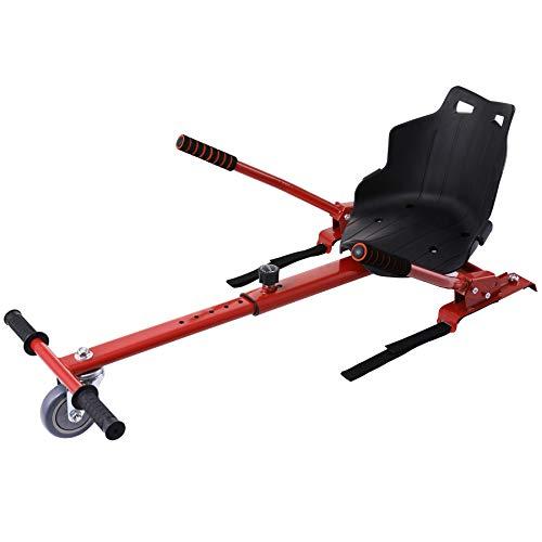 Z ZELUS Einstellbare Hoverkart Go Kart Sitzscooter Hoverseat für Hover Kart Elektro Scooter Hoverboard Self Balance Scooter mit 6,5/8/ 10 Zoll (Rot)