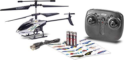 Carson 500507157 Police Tyrann 230 Gyro 2.4GHz, 100% flugfertig, Ferngesteuerter Helikopter, Einsteiger RC Hubschrauber, inkl. Batterien und Fernsteuerung