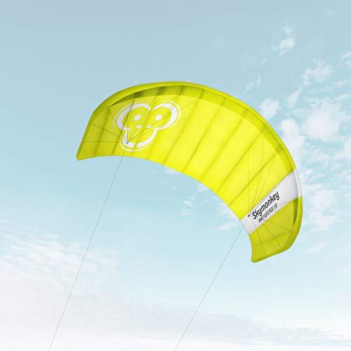 Skymonkey Airtwister 1.8 Lenkmatte mit Flugschlaufen 'Ready 2 Fly'- 180 cm [grün-gelb]
