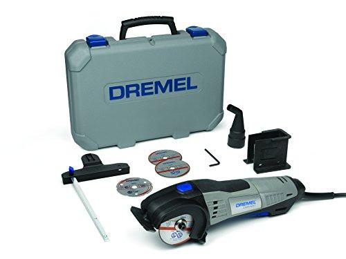 Dremel DSM20 Kompaktsäge 710W Handkreissäge Set (mit 6 Zubehören und 1 Staubsaugeraufsatz, zum Sauberen Schneiden von einer Vielzahl an Materialien)