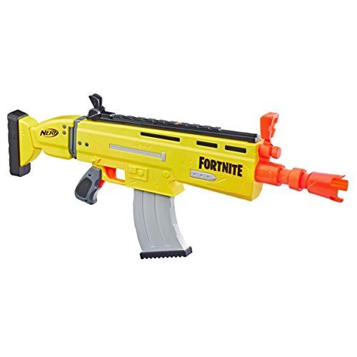 Nerf E6158EU4 AR-L Motorisierter Spielzeug Blaster, 20 Fortnite Elite Darts, Klappvisier – Für Jugendliche und Erwachsene, Mehrfarbig, 6.7 x 78.7 x 33.7 cm