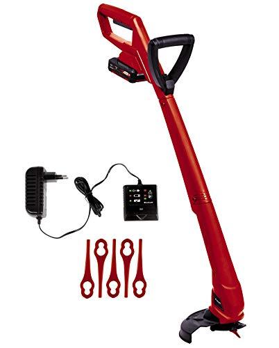 Einhell Akku Rasentrimmer GC-CT 18/24 Li P Kit Power X-Change (Lithium Ionen, 18 V, 8.500 U./Min, 24 cm Schnittbreite, inkl. 20 Stück Kunststoffmesser, 1,5 Ah Akku und Ladegerät)