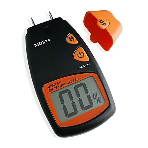 AMTAST Digital Holzfeuchtemessgerät Tester von Holzfeuchte, 4 Pins Holz Bäume Bambus Feuchtigkeitsmesser mit LCD Display, Messbereich5%-40%, Genauigkeit:+/-1%