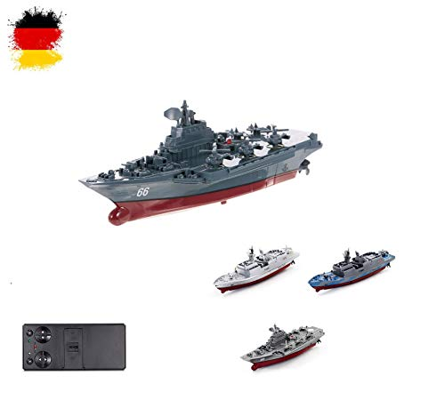 HSP Himoto RC ferngesteuertes Mini Kriegsschiff, Fregatte, Schlachtschiff, Schiff, Boot, Komplett-Set inkl. integr. Akku, 2,4Ghz Fernsteuerung, Neu, OVP