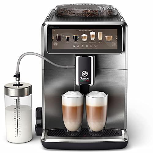 Saeco SM8889/00 Xelsis Suprema Kaffeevollautomat 22 Kaffeespezialitäten (Touchscreen, 8 Benutzerprofile), WLAN-Konnektivität, Edelstahl