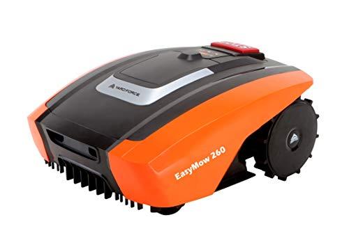 Yard Force Mähroboter EasyMow260 für geeignet für bis zu 260 qm-Selbstfahrender Rasenmäher Roboter, Bedienung und einfach zu bedienen, 30% Steigung 2,0 Ah Lithium-Ionen Akku, 20 V, schwarz/orange