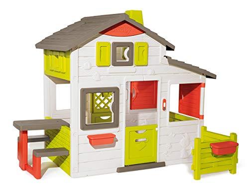 Smoby - Neo Friends Haus - Spielhaus für Kinder für drinnen und draußen, erweiterbar durch Zubehör, Gartenhaus für Jungen und Mädchen ab 3 Jahren