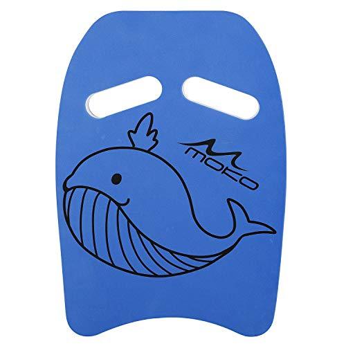 MoKo Kinder Schwimmbrett, Schwimmen Kickboard Trainingsausrüstung mit Griffen Schwimmhilfe Cartoon Swim Float Schwimmtrainingsausrüstung Schwimm Board für Junge Mädchen - Blau