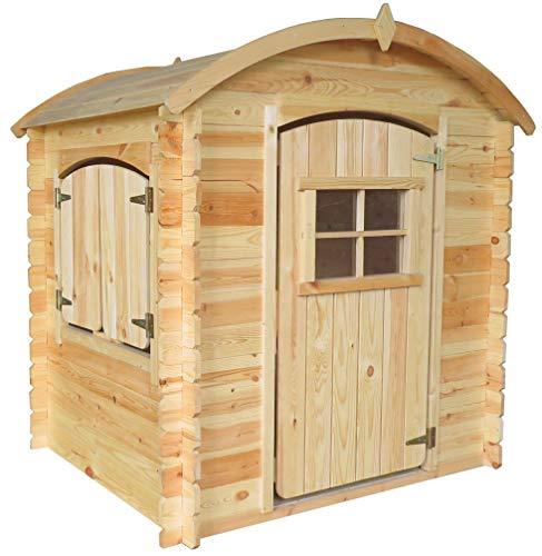 TIMBELA M505-1 Holzhaus mit Holzboden - Kindergartenhaus für den Außenbereich, H145 x 105 x 130 cm, 1.1 m²