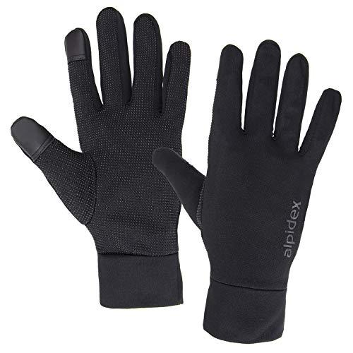ALPIDEX Leichte Sporthandschuhe Laufhandschuhe Touchscreen Running Handschuhe für Damen und Herren, Größe:L, Farbe:Black