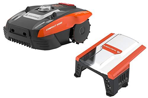 Yard Force Mähroboter COMPACT 400Ri bis zu 400 qm - Selbstfahrender Rasenmäher Roboter mit WLAN-Verbindung, App-Steuerung, iRadar Ultraschallsensor mit Garage