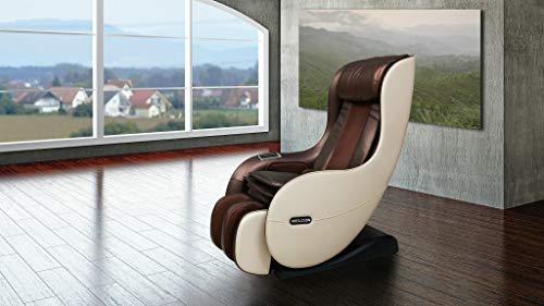 WELCON Massagesessel EASYRELAXX in beige braun mit Automatikprogrammen sowie manueller 3D Massage vom Nacken bis unter die Oberschenkel