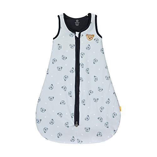 Steiff Baby-Jungen mit süßer Teddybärapplikation Schlafsack, Kentucky Blue, 070