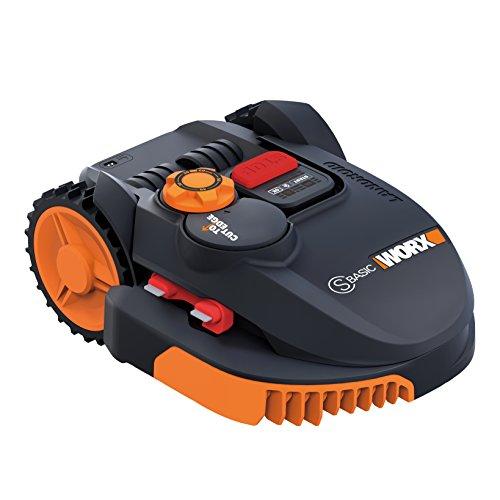 Worx Landroid, elektrischer Rasenroboter, batteriebetrieben mit 20 V, 3 bewegliche Klingen, kabellos, WR091S