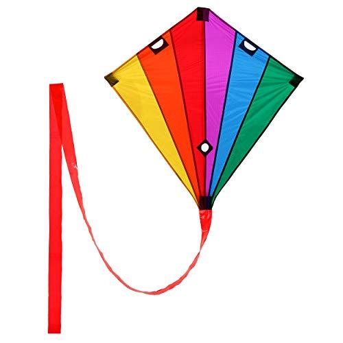 Wolkenstürmer Racer Lenkdrachen Rainbow, 90x90cm, Leichter Einsteigerdrachen