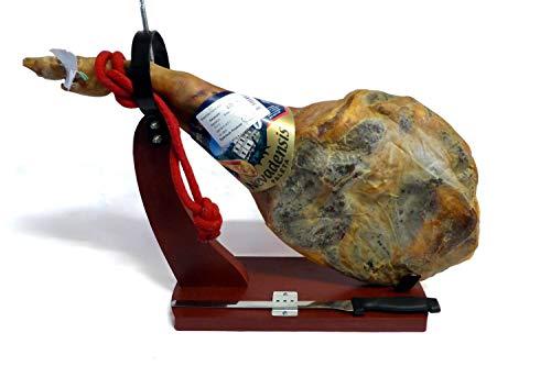 4,5kg Serrano-Schinken Set | mit Bock und Messer | OHNE ZUSATZSTOFFE | Paleta Gran Reserva Vorderschinken mit Knochen | aus Treveléz