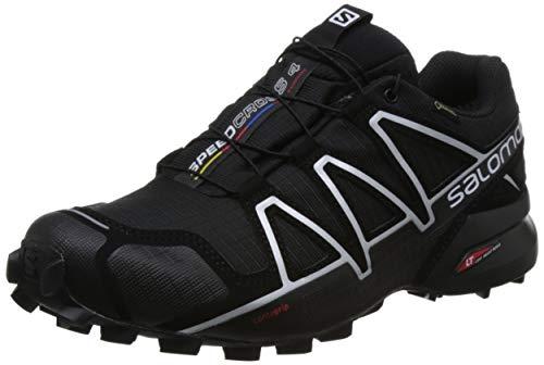 Salomon Herren Trail Running Schuhe, SPEEDCROSS 4 GTX, Farbe: schwarz (Black/Black/Silver Metallic-X) Größe: EU 48