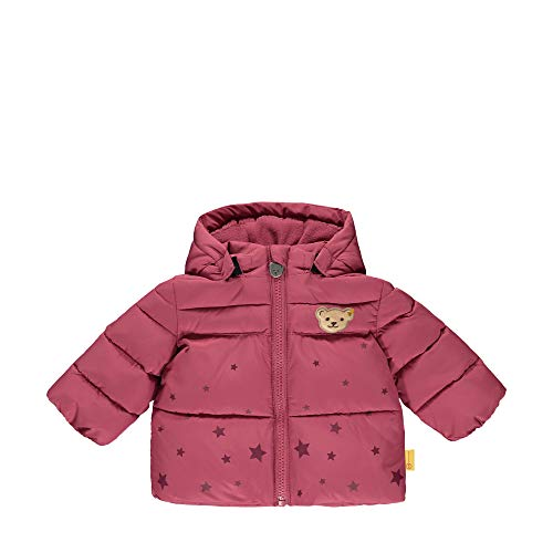 Steiff Baby-Mädchen mit süßer Teddybärapplikation Jacke, Malaga, 086