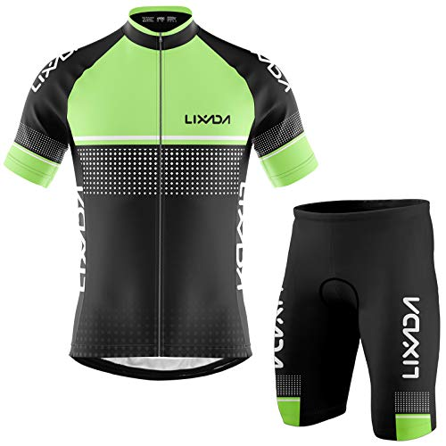 MYSENLAN Herren Kurzarm Radtrikot Fahrradtrikot Elastische Atmungsaktive Schnelltrocknend Fahrradbekleidung f/ür M/änner f/ür Radsport und Outdoor-Aktivit/äten