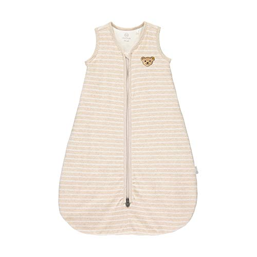 Steiff Baby-Unisex mit süßer Teddybärapplikation Schlafsack GOTS, Sandshell, 070