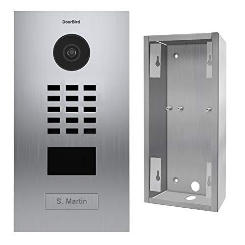 Doorbird D2101V Video-Türsprechanlage IP 1 Klingel + Halterung – Edelstahl