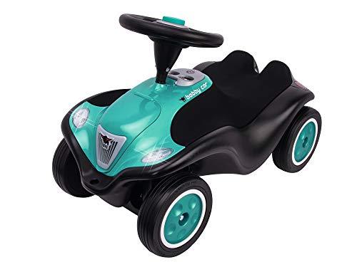 BIG-Bobby-Car Next - Deluxe Variante, Kinderfahrzeug mit LED-Front Scheinwerfer, Flüsterreifen und weichem Sitz, belastbar bis zu 50 kg, Rutschfahrzeug für Kinder ab 1 Jahr, Turquoise