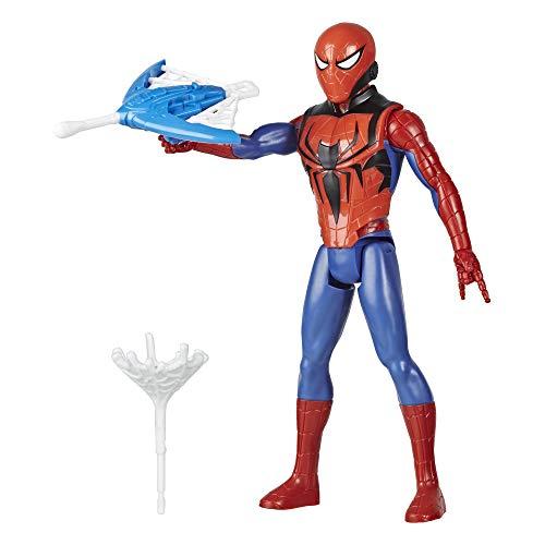 Hasbro Marvel Spider-Man Titan Hero Serie Blast Gear Spider-Man Action-Figur, 30 cm großes Spielzeug, mit Starter und Projektilen, ab 4 Jahren