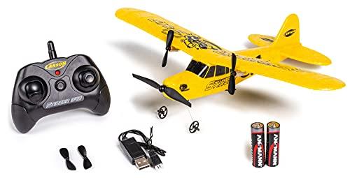 Carson 500505029 Stinger 340 2.4G 100% ferngesteuertes Flugmodell, RC Flugzeug, Robustes RTF (Ready to Fly) Modell für Einsteiger, inkl. Batterien und Fernsteuerung, gelb