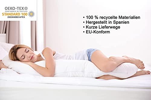 Kissen Body Pillow Dakimakura Seitenschläfer Deko Kopfkissen Kissenfüllung Hypoallergene 100% Polyester (150x50cm)