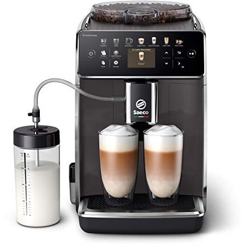 Saeco GranAroma Kaffeevollautomat SM6580/10 (14 Kaffeespezialitäten, 4 Benutzerprofile, Farbiges TFT-Display) Grau