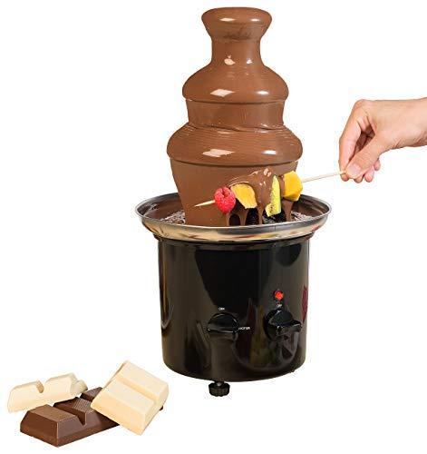 Rosenstein & Söhne Schokofondue: Schokoladen-Brunnen mit 2 Ebenen, 275 Watt (Fondue)