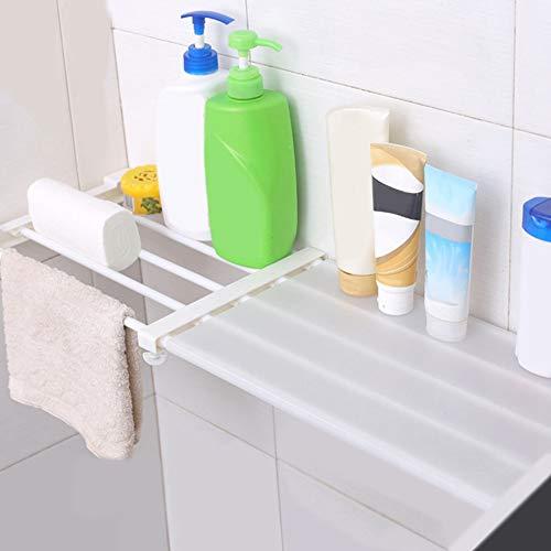 Pinsofy Eisen + Kunststoff Material Schrank Trennregal, Kleiderschrank Trennregal, für Schlafzimmer Teleskopfach Lagerregal Schrank Kleiderschrank