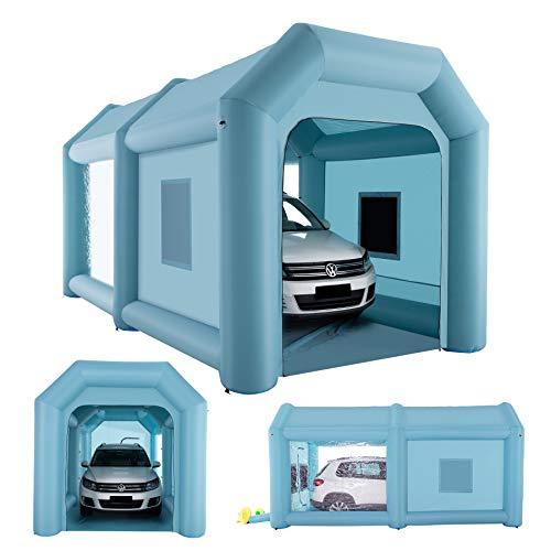 Orion Motor Tech 6x3x3m Aufblasbare Sprühkabine Zelt Aufblasbare Lackierkabine Zelt Spritzkabine Großes Autozelt Partyzelt Campingzelt Luftzelt mit 2 elektrische Gebläse (6x3x3m)