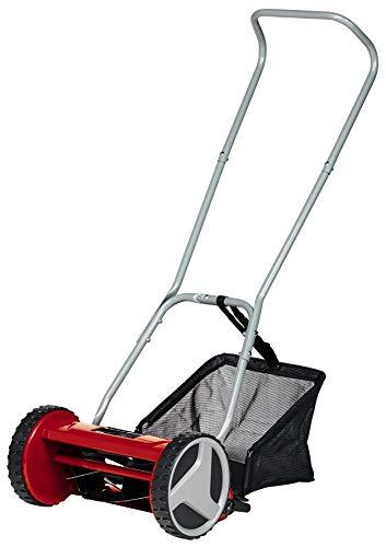 Einhell 3414114 Hand-Rasenmäher GC-HM 300 (für bis zu 150 m², 30 cm Schnittbreite, kugelgelagerte Mähspindel mit 5 hochwertigen Stahlmessern, 4-stufige Schnitthöheneinstellung 13-37 mm, 16 l-Fangkorb)