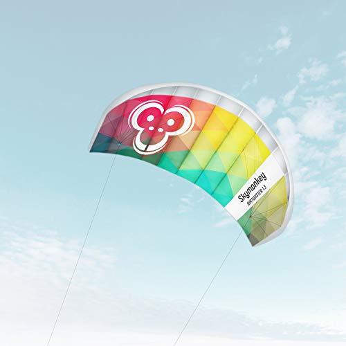 Skymonkey Airtwister 1.3 Lenkmatte mit Flugschlaufen 'Ready 2 Fly' - Spannweite: 130 cm, Rainbow
