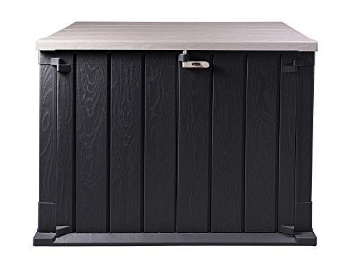 Ondis24 Mülltonnenbox Storer Basic Gerätebox abschließbar für 2 Mülltonnen (842 Liter, Anthrazit-Grau)