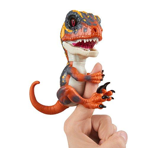 Fingerlings Untamed Velociraptor orange Blaze - 3781 / interaktives Spielzeug, reagiert auf Geräusche, Bewegungen und Berührungen