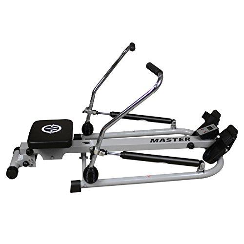 Master Rudergerät V-100 Rower Rowing Machine Ganzkörpertrainer mit Trainingscomputer