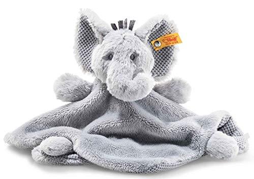Steiff Ellie Elefant Schmusetuch - 26 cm - Schmusetuch für Babys - Plüschelefant - weich & waschbar - grau - (241918)