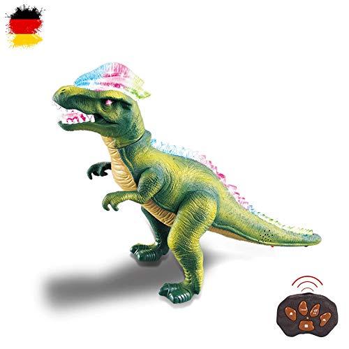 HSP Himoto XXL RC Ferngesteuerter Dinosaurier T-Rex mit Sound, LEDs, realistische Bewegungen, Tanzfunktion inkl. Fernsteuerung