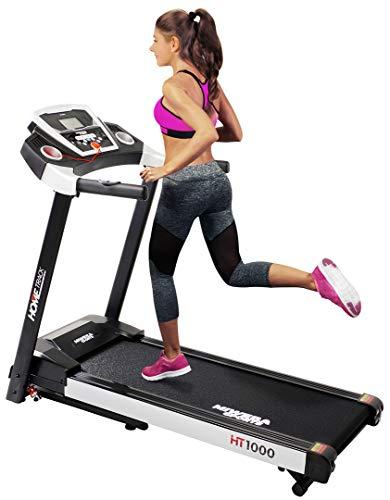 Miweba Sports elektrisches Laufband HT1000 - Incline 6% - Klappbar - 1,75 Ps - 16 Km/h - 12+4 Laufprogramme - Tablet Halterung - Große Lauffläche (Schwarz)