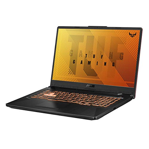 ASUS TUF Gaming F17 Gaming Laptop, 144Hz 17,3' FHD IPS-Display, Intel Core i5-10300H, GeForce GTX 1650 Ti, 8GB DDR4, 512GB PCIe SSD, RGB Tastatur, Windows 10, Bonfire Black, FX706LI-ES53