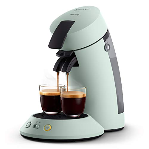 Philips Senseo Original Plus CSA210/20 Kaffeepadmaschine (Kaffeestärkewahl, Kaffee Boost Technologie, aus recyceltem Plastik), mint