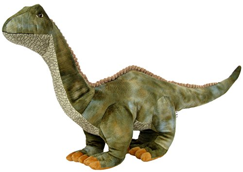 Wagner 4502 - Plüschtier Dinosaurier XXL Brontosaurus - 81 cm gross - Dino Brontosaurier Kuscheltier